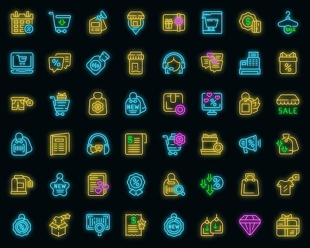 Novos ícones de preço definir vetor de contorno. desconto de venda. novo acordo de fogo
