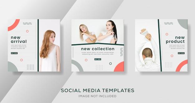 Novos modelos de publicação de mídia social de venda de coleção