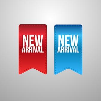 Novos rótulos de chegada
