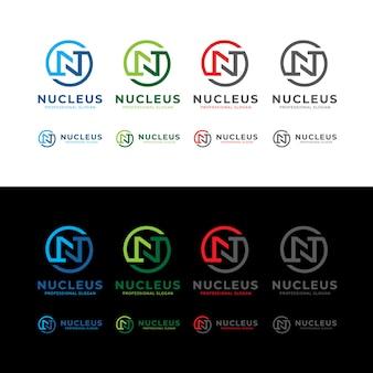 Núcleo n letter circle logo