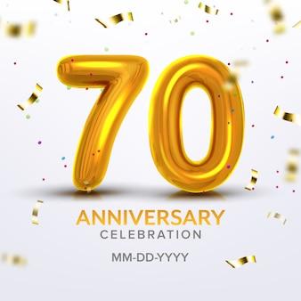 Número da celebração do septuagésimo aniversário