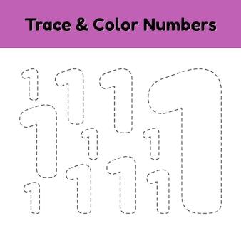 Número da linha de rastreamento para crianças.