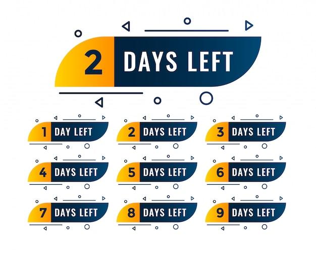 Número de dias de memphis de símbolos à esquerda
