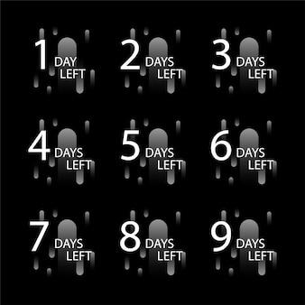 Número de dias restantes do crachá