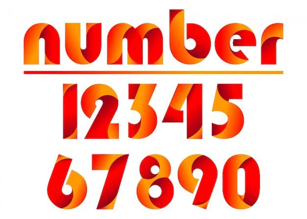 Número de letras coloridas