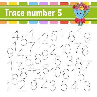 Número de rastreamento. prática de escrita