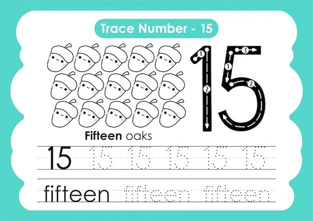 Número de rastreamento quinze - para crianças do jardim de infância e pré-escola