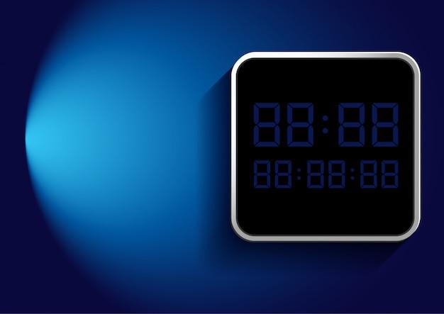 Número digital no quadro sobre azul