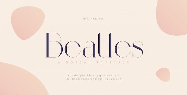 Número e fonte de letras do alfabeto elegante. letras urbanas clássicas desenhos de moda minimalistas. fontes de tipografia em letras minúsculas e números.