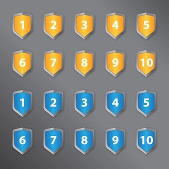 Número em um escudo