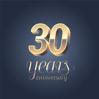Número ouro para aniversário de aniversário