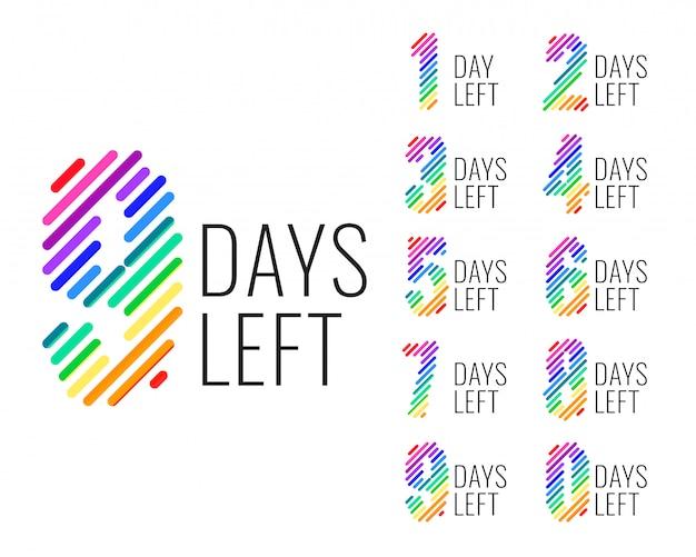 Número promocional de dias à esquerda da faixa de contagem regressiva