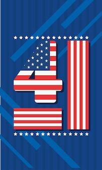 Número quatro do dia da independência dos eua