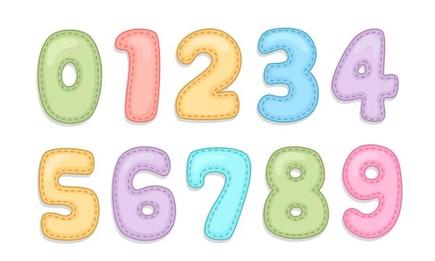 Números de alfabeto de cuidado de bebê