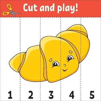 Números de aprendizagem 15 planilha de educação para recortar e brincar