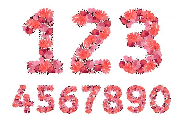 Números de flores.