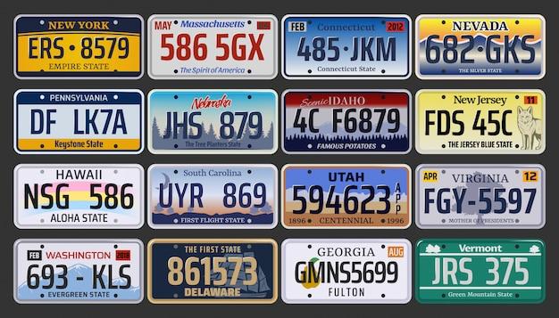 Números de matrícula e matrículas de automóveis nos eua