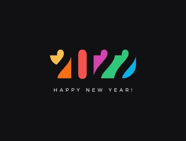 Números de papel de corte de cor criativa de feliz ano novo para calendário de arte de capa de cartão de natal