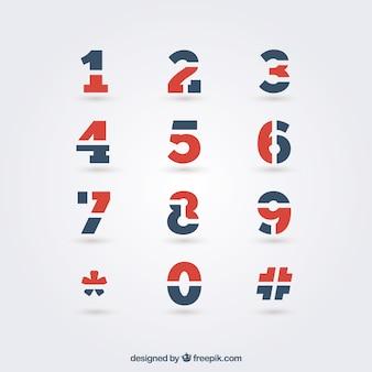 Números do teclado telefone