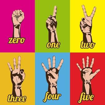 Números e mãos