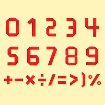 Números e símbolos de design