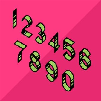 Números lineares, contornos e volumétricos.