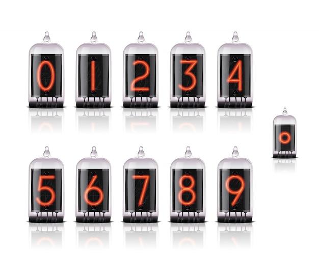 Números para relógio de lâmpada vintage estilo steampunk