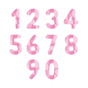 Números rosa abstratos