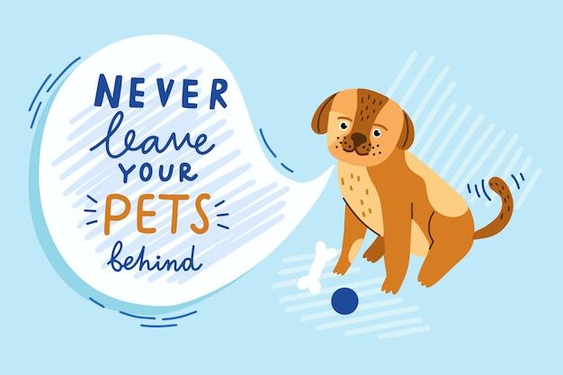 Nunca deixe seu animal de estimação para trás