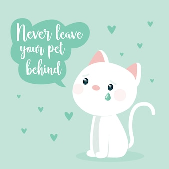 Nunca deixe um animal de estimação para trás adotar o conceito