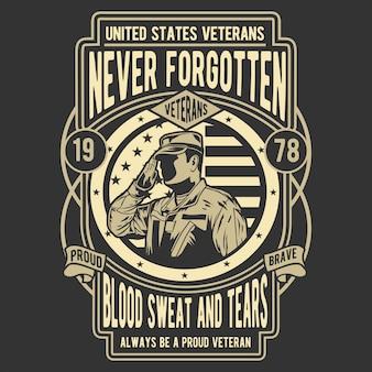 Nunca esquecido veterano