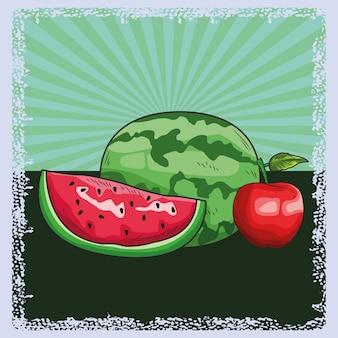 Nutrição de fruta fresca saudável