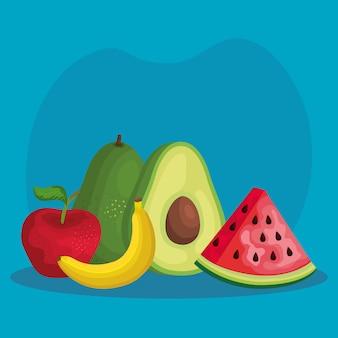 Nutrição de frutas orgânicas tropicais com vitamina