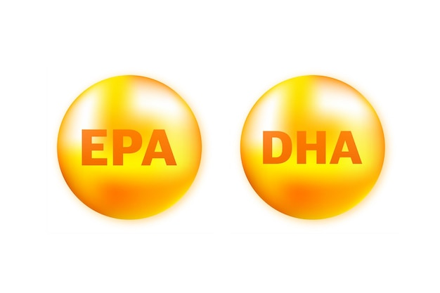 Nutrição de óleo de peixe brilhante epa e dha para uma boa saúde.