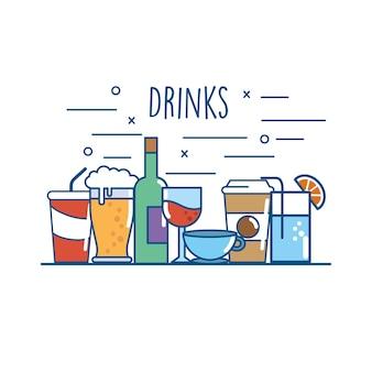 Nutrição deliciosa de bebidas para bebidas