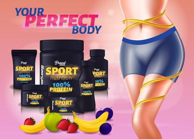 Nutrição esportiva sabor fruto