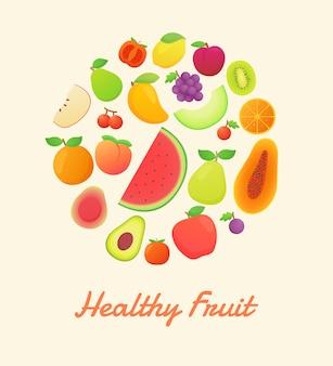 Nutrição orgânica de frutas saudáveis