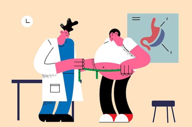 Nutricionista e conceito de perda de peso