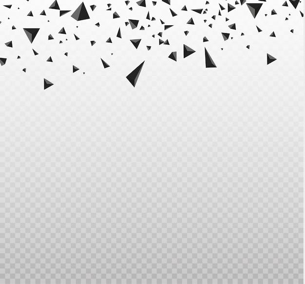 Nuvem de explosão de peças pretas na ilustração de fundo branco