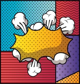 Nuvem de expressão com conjunto de padrões estilo pop art