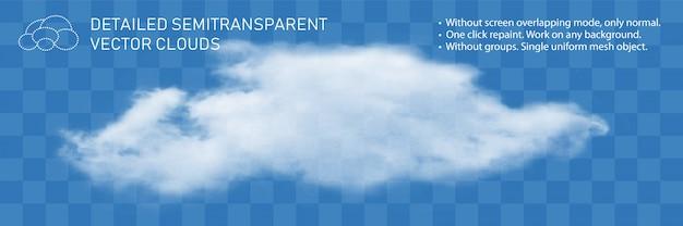 Nuvem de fonte. fluxo de vapor natural detalhado transparente realista.