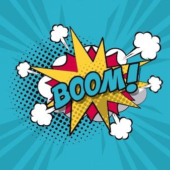 Nuvem de palavras-chave explosivas para diálogo com texto de boom