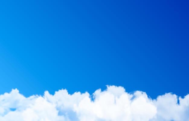Nuvem de vetor ou fumaça em um fundo azul nuvem fumaça nevoeiro céu png