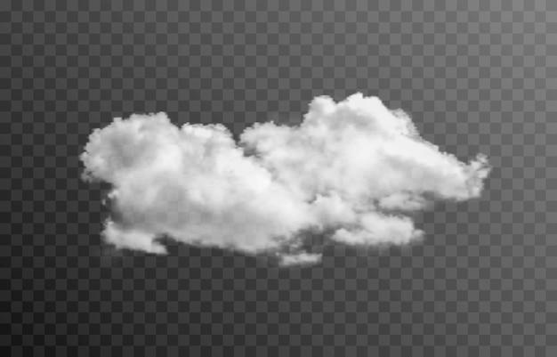 Nuvem de vetor ou fumaça em um fundo transparente isolado nuvem de fumaça nevoeiro png