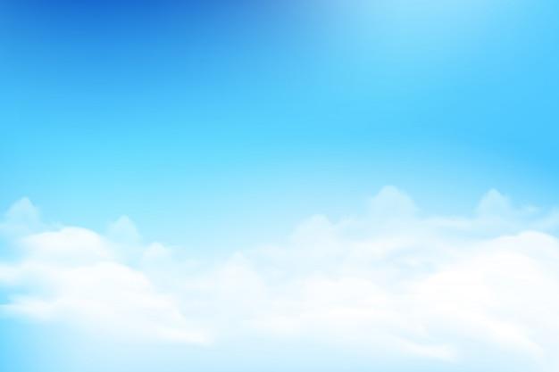 Nuvem e céu azul de fundo
