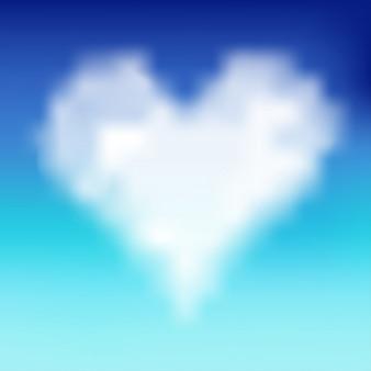 Nuvem em forma de coração