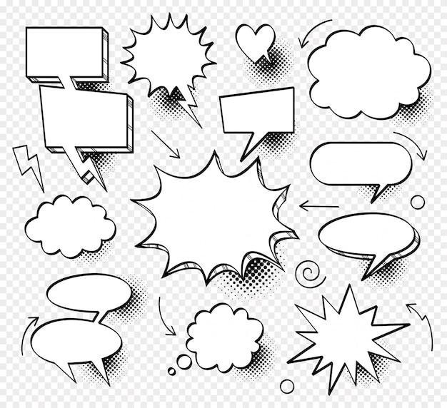Nuvem vazia de diálogo em quadrinhos, espaço de texto
