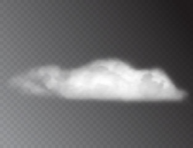 Nuvens brancas 3d realistas isoladas
