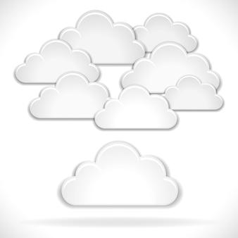 Nuvens brancas isoladas