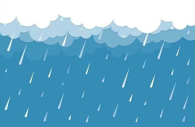 Nuvens com design de plano de fundo de chuva
